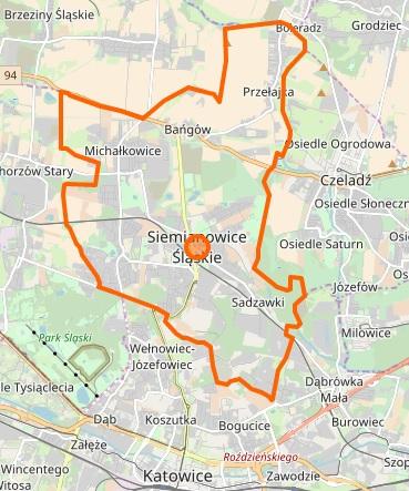Siemianowice Śląskie - plan miasta