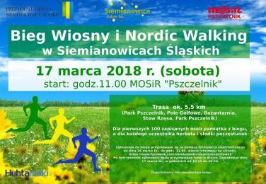 Bieg Wiosny oraz Nordic Walking w Siemianowicach Śląskich