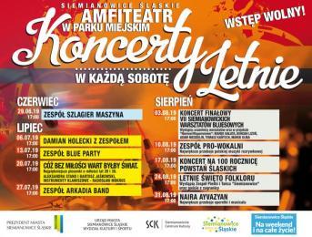 Koncerty letnie w Siemianowicach Śląskich - sprawdź program