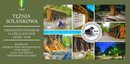 Siemianowice Śląskie: otwarcie tężni solankowej 11 lipca