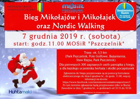 Zapraszamy na Bieg Mikołajów i Mikołajek oraz Nordic Walking w Siemianowicach Śląskich
