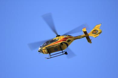 Helikopter LPR przetransportował rannego motocyklistę